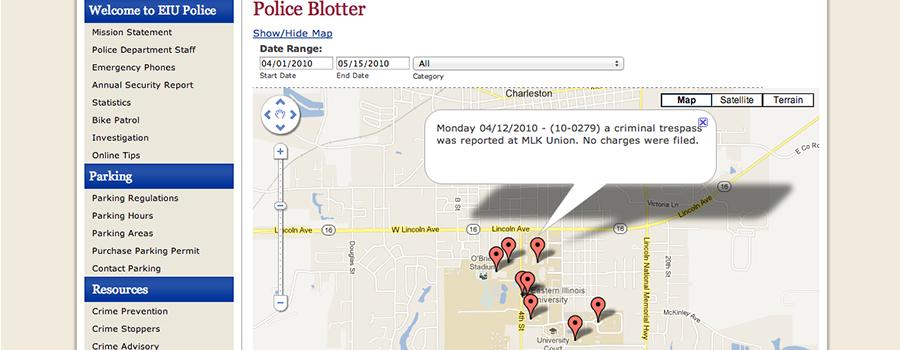 EIU Police Blotter