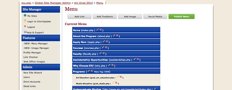 EIU Website Manager